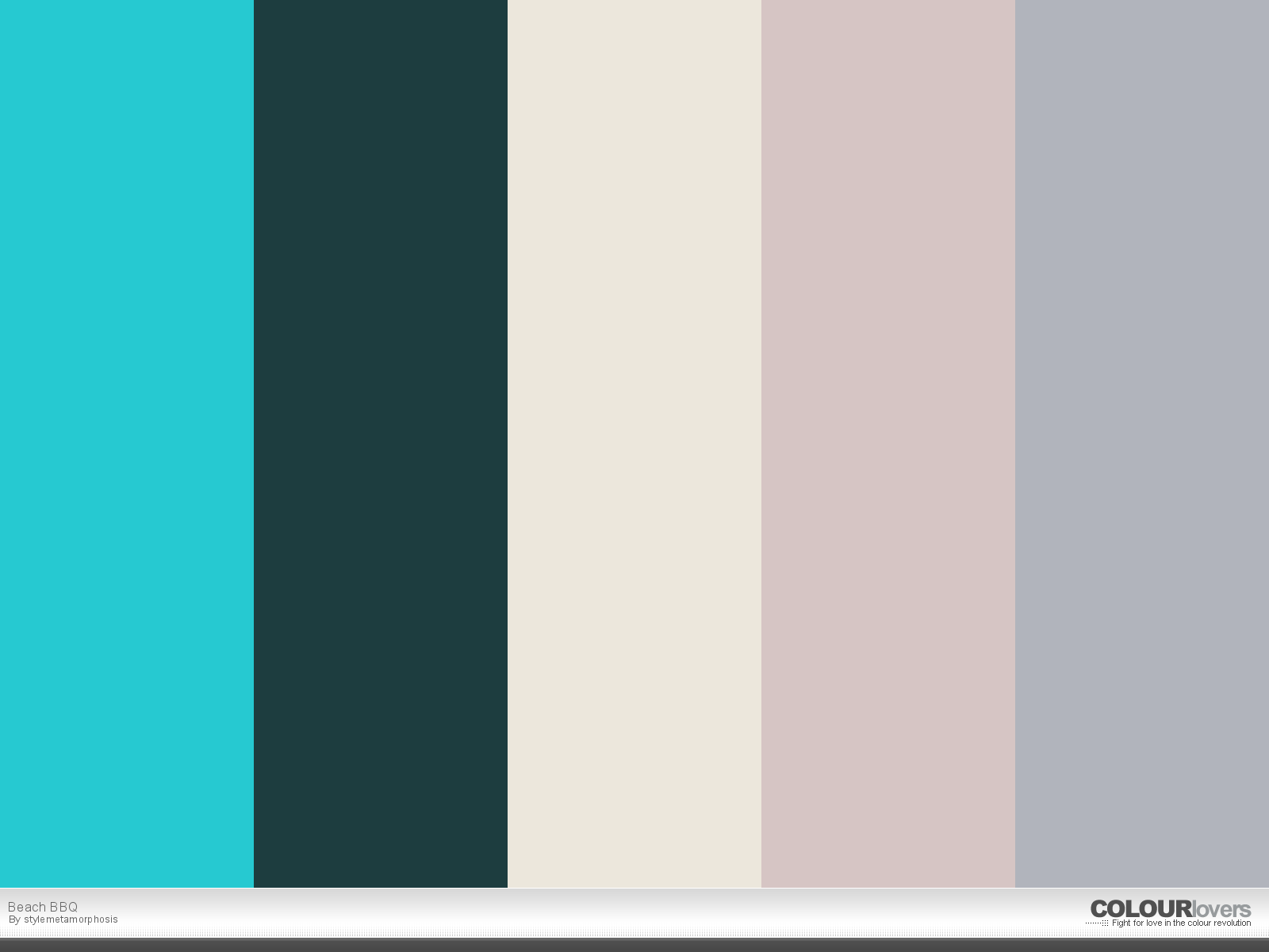 COLOURlovers palette. Beach BBQ by Stylemetamorphosis