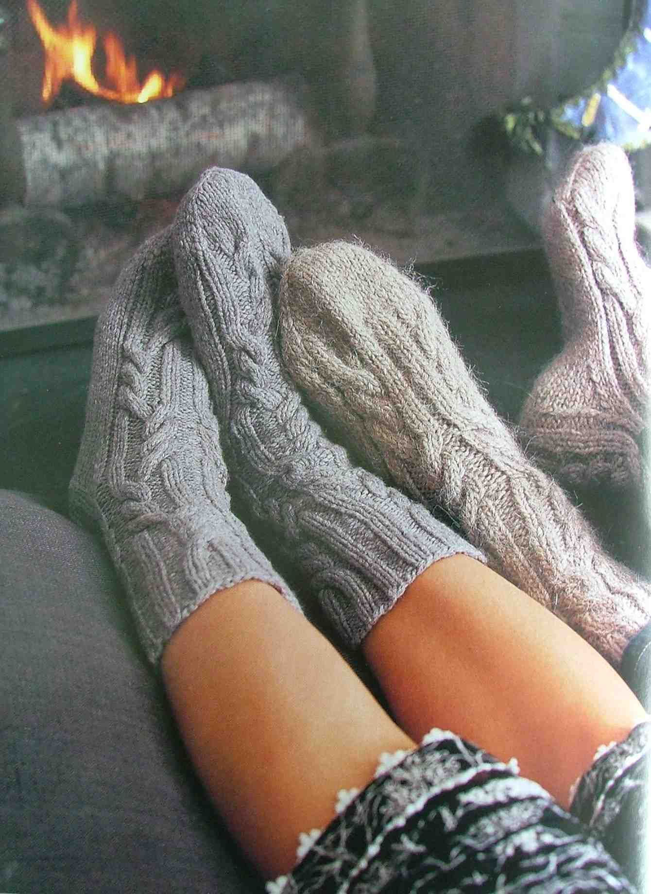 Log cabin socks Handkint holidays