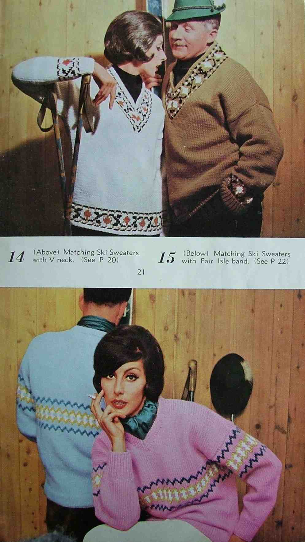 Vacation Knits by villawool p21 circa 1960 photo source: theartofcostume.wordpress.com