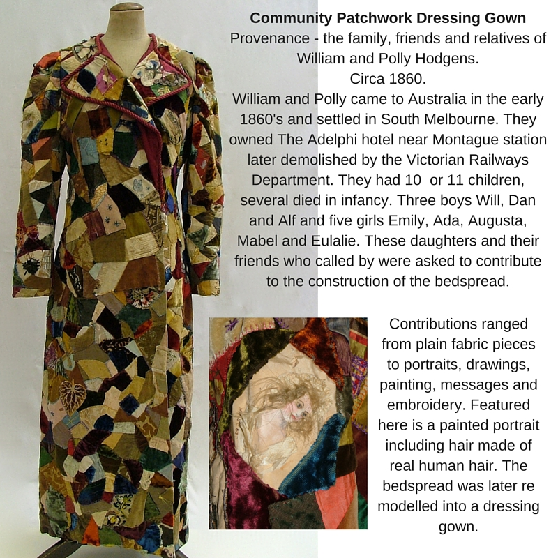 1860's Patchwork Dressing Gown collage