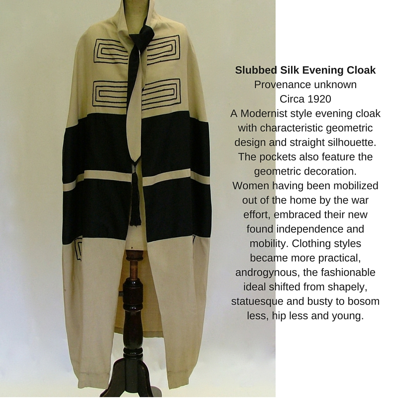 1920's evening cloak collage
