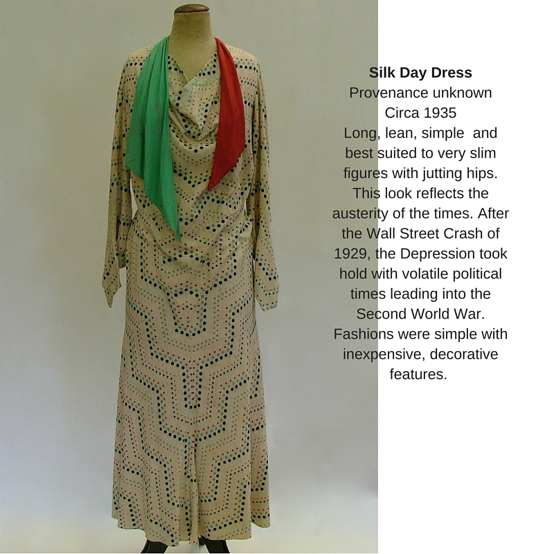 1930's day dress collage
