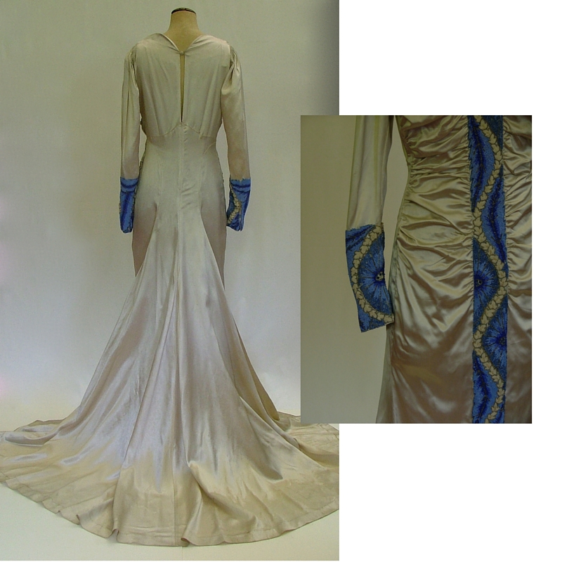 1930's wedding gown 2 collage