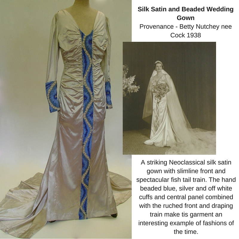 1930's wedding gown collage